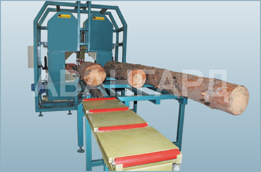 Log sawing machines
