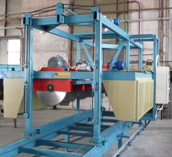 Foam concrete cutting equipment